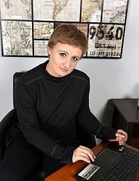 Short Haired Office Girl Malvina