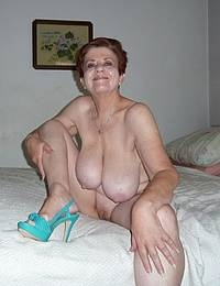 Granny is a insatiable cock and cum slut with 2 cocks