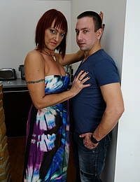 Horny mature lady fucking hard with her lover