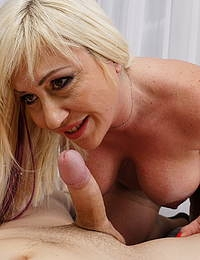 Curvy mature lady having fun with her horny toy boy