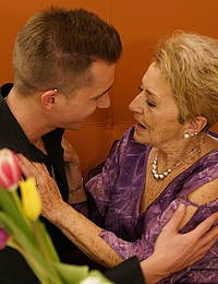 Granny gets a visit from her toy boy