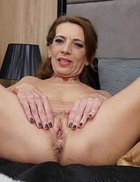 Naughty housewife getting wet and wild