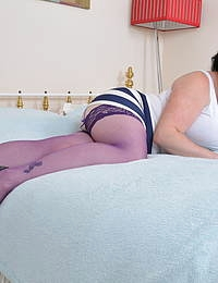 Curvy big breasted housewife from the uk goes wild