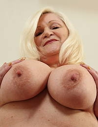Big breasted curvy British housewife playing with herself