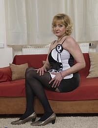 Naughty Curvy housewife fooling around with her toy boy