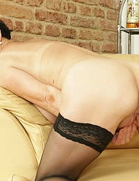 Naughty housewife gets horny after she drank some wine