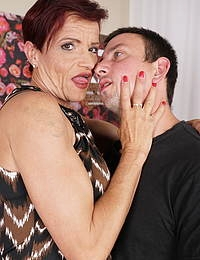 Heavily pierced German mature lady seducing her toy boy