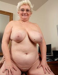 Big tits granny suck dick and get cum in mouth