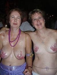 Grandma with a gorgeous pair of fake boobs