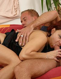 very hot blonde hot granny and boys threesome