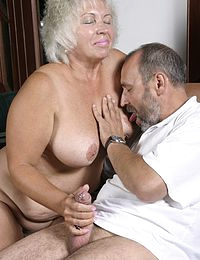 Monster Tit Granny fucks Big Dick Grandpa