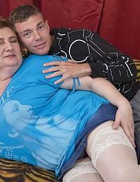 Big breasted mature slut doing her friend