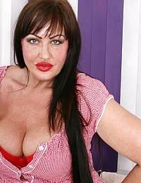 Big breasted British housewife feeling a bit naughty