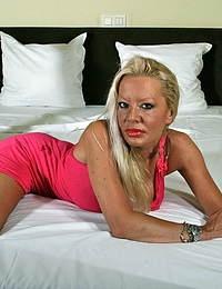 Horny blonde housewife feeling dirty