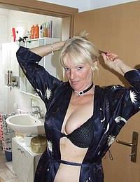 Kinky housewife taking a naughty shower