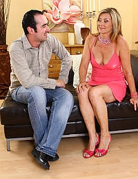 42 year old Dana P enjoys a stiff hard young cock in this one