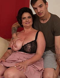 This curvy cougar loves to fool around with her toy boy
