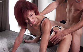 Sexy French Milf sucks her lovers cock and is fucked permanent