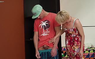 Hot stepmom acquiring caught by her stepson