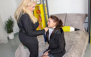 Obese breasted Musa seducing a hot teeny babe