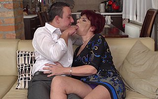 Gungho mature lady having great sex with her younger lover