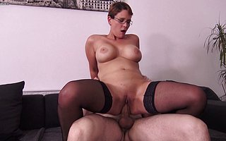 XXX busty housewife loves a chubby cock apropos her pussy