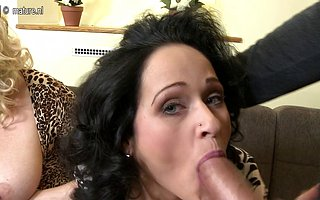 Three big breasted housewives fucking and sucking yon POV style