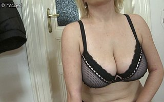 Big breasted housewife carryingon with myself