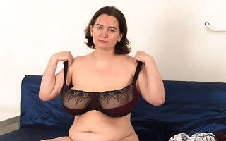 Of age housewife shows stay away from beamy saggy tits and fucks her young boyfriend