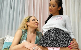 Naughty ageold and young lesbians making in foreign lands in bed
