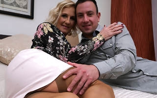 Naughty British housewife prosecution her strapping lover