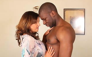 Hot British mom cheating on will not hear of husband with a strapping black guy