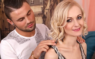 Illbehaved skinny housewife fucking and sucking a way younger guy