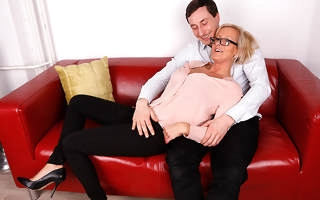 Hot German Housewife gets a massage with the addition of then some