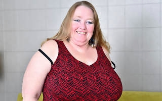 Big breasted mature BBW playing with their way pussy