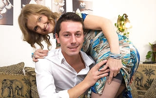 Horny housewife fucking with the addition of sucking say no to toy boy