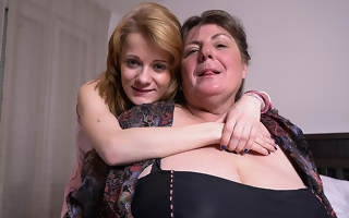 Two blistering old and young lesbians yon action