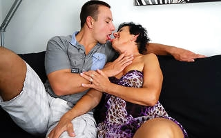 Blistering granny having fun with will not hear of toy boy