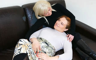 Naughty housewive having fun with a soft mature slut