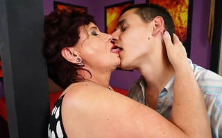 Horny housewife gender and sucking her ass off