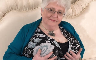 Big breasted British granny effectuation forth herself