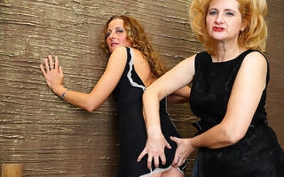 Two naughty housewives go inverted on eachother