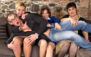 Team a few lucky toff having sex with yoke unpropitious housewives