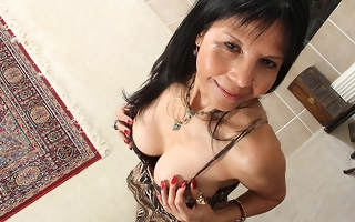 Naughty American housewife playing about her wet pussy