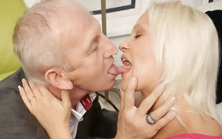 Marketable young mart sucking and fucking old dude