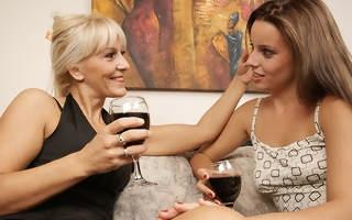 Hot lesbian indulge doing will not hear of way older girlfriend