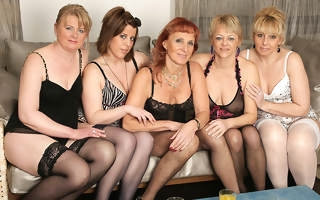 Welcome on touching a hot old and young lesbian party