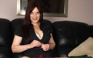 Horny housewife playing with her pussy essentially a catch couch