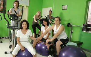These mature women love to exercise even naked