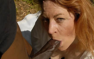This whitehot mama loves to go for black cock